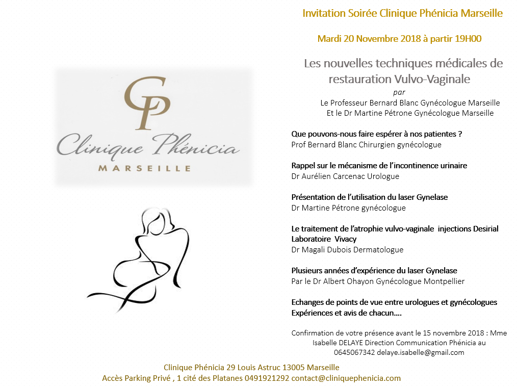 SOIREE LASER GYNELASE CLINIQUE PHENICIA MARSEILLE